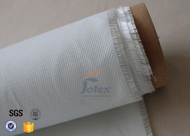 China Durable Flexible 0.5mm White Silicone Coated Fiberglass Fire Blanket 490g/M2 factory
