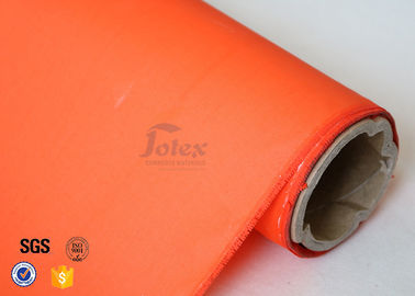 China 0.25mm 280g Orange Acrylic Coated Fibreglass Fabric Glass Fiber Cloth E - Glass factory