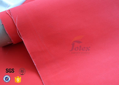 China 0.45mm Red Acrylic Coated Fiberglass Fire Blanket For Industrial Fire Blanket factory
