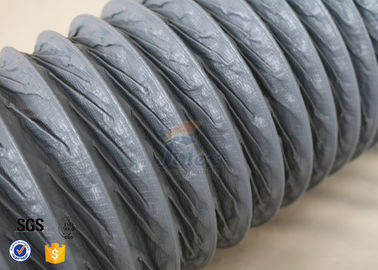 China 10M PVC Coated Fiberglass Fabric HVAC Flexible Air Ducting 150MM Diameter distributor