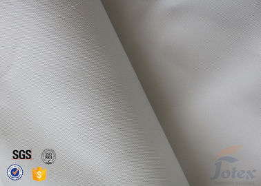China 14oz 0.45mm White Silicone Coated Fiberglass Fabric Emergency Fire Blanket factory