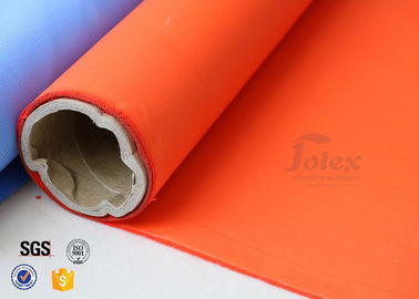 China Orange Acrylic Coated Fibreglass Fabric 8.3oz 39 Inches Heat Resistant factory