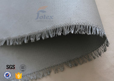 "China 0.45mm PU Coated Glass Fibre Fabric For Welding Blanket 460gsm 39"" Cloth factory"