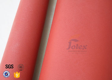 China Silicone Coated High Silica Cloth 700g 0.8mm Red Silicone Fibre Glass Fabric factory