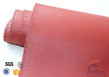 "China Red Silicone Coated Fiberglass Fabric Engine Thermal Insulation 1mm 30oz 39"" factory"