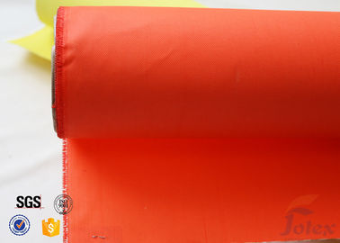 China Orange Acrylic Coated Fibreglass Fabric 280g/m2 0.25mm Fire Resistant factory