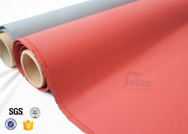 China 760G Silicone Coated High Silica Fiberglass Cloth 1000℃ 0.7MM Satin Weave factory