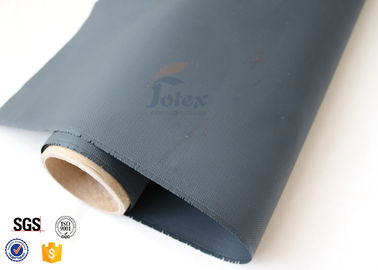 China 1000mm Width Thermal Insulation Materials 0.5MM Black PU Coated Fiberglass Fabric factory