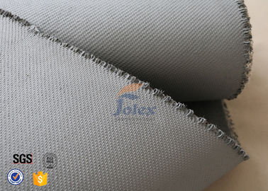 China Grey 1500gsm 1.5mm E Glass Cloth , Silicone Coated Fiberglass Cloth Sheets factory