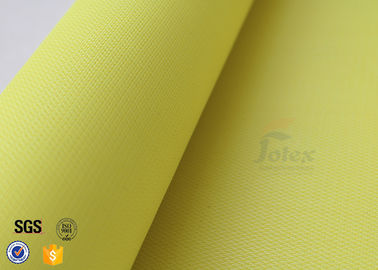 China 0.5mm 530gsm Yellow PU Coated Fiberglass Cloth Insulation Abrasion Resistant factory