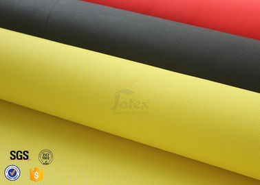 China Yellow 0.5mm 530g 100cm  PU Fiberglass Cloth Thermal Insulation Materials factory