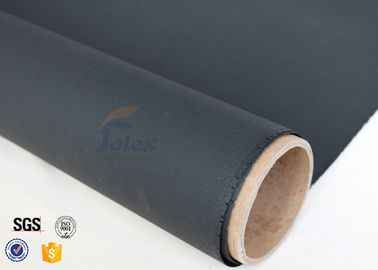 China 0.45mm 530gsm Black PU Fiberglass Fabric For Welding Thermal Insualtion factory