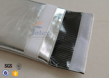China Silver Outside Fireproof Bag Pouch Non Irritating Fiberglass 1000℉ 17x27cm factory