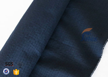 China Navy Blue 210g Kevlar Aramid Fabric Flame Retardant / Abrasion Resistant distributor
