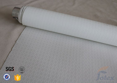 China 0.25mm 300gsm White Silicone Coated Fiberglass Fabric For BBQ Fireproof Apron factory