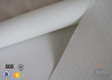 "China 300g 0.009"" White Silicone Fiberglass Fabric For BBQ Apron Fire Sparks Resistant factory"