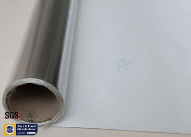 China Silver Coated Fabric 430G 0.43MM Twill Aluminium Foil Fiberglass Pipe Insulation distributor