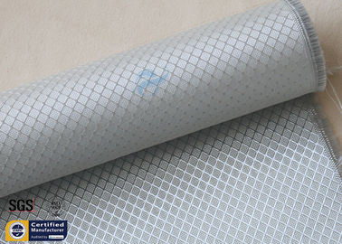 China Silver Coated Fabric Aluminized Fiberglass Cloth 6.5OZ 0.2MM 260℃ Checked distributor