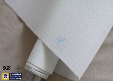 China White Silicone Fiberglass Fabric Hot Ashes Protection BBQ Apron 260℃ 0.3MM factory