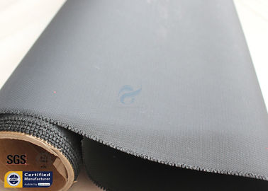 "China Acrylic Coated Fiberglass Fire Blanket Cloth 530GSM 0.43mm Black 500℉ 39"" 50M factory"