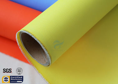 China Yellow Acrylic Coated Fibreglass Fabric 0.43MM 530GSM 500℉ Welding Blanket factory