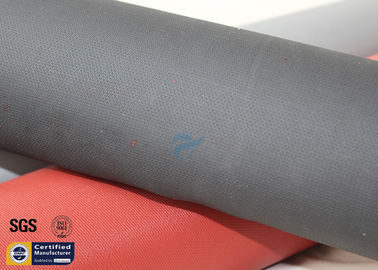 China Fiberglass Fabric Acrylic Coated 490GSM Black 260℃ Sparks Welding Blanket Cloth factory