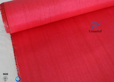 China C - Glass Double Sides 40/40g 0.45mm Red Silicone Coated Fiberglass Fabric Waterproof factory
