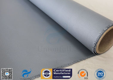 China Welding Curtain / Fire Blanket 510g Gray Color 0.45mm Silicone Coated Fiberglass Fabric factory