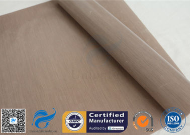 China 260℃ 230GSM Brown Ptfe Coated Fiberglass Cloth For Heat Press Transfer factory
