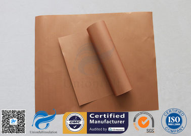 China Non Stick Silicone Baking Mat PTFE BBQ Grill Mat Copper 0.2MM Heat Resistant 260℃ factory