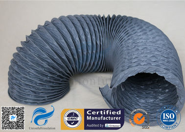 China Flexible PVC Coated Fiberglass Fabric Air Duct , PVC Fiber Glass Hose distributor