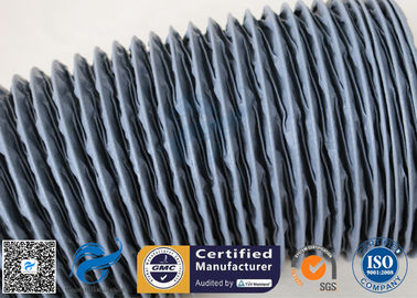 China Waterproof  Grey PVC Coated Fiberglass Fabric 0.25mm Air Ducting Cloth factory