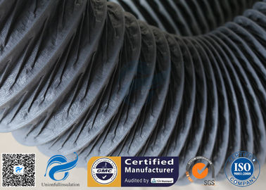 China 260℃ 150MM PVC Coated Fiberglass Flexible Air Ducting Fabric Fire Resistant factory