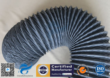 China 200 Degree 150mm PVC Coated Fiberglass Flexible Air Ducting For HAVC System factory