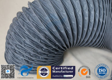China Fire Resistant 200℃ PVC Coated Fiberglass Fabric Flexible Air Duct For Ventilation factory