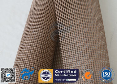 China 600g PTFE Coated Glass Fibre Fabric Mesh Fabric Conveyor Belt 4x4 factory