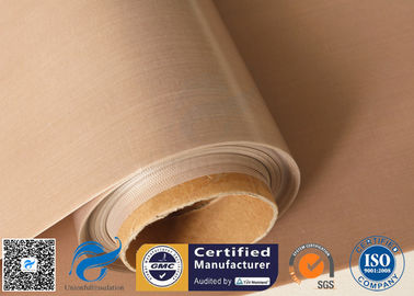 China 61 Inches high temperature fabric , PTFE coated fiberglass cloth Oven Liner Materials factory
