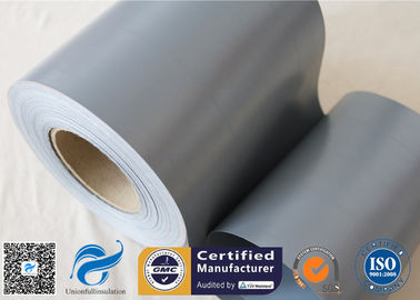 "China 20cm Width Waterproof Grey PVC Woven Fabric Tear Resistant 0.3mm 7.9"" Width distributor"