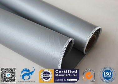China Oil Pipeline Insulation Silicone Coated Fiberglass Fabric Material 0.4 MM Thickness distributor