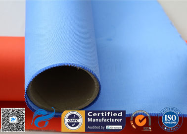 China Colored Silicone Coated Glass Fabric Fiberglass Sound Insulation 530gsm 127cm factory