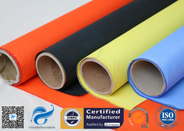 China Acrylic Coated Fibreglass Fabric Orange 7628 260℃ 500℉ Chemical Resistant distributor