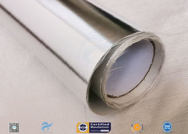 China Heat Insulation 0.43mm Thick Aluminium Foil Coated Fiberglass Fabric distributor
