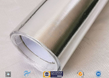 China Light/Heat Reflective 300℃ Aluminium Foil Fiberglass Fabric For Pipe Insulation distributor
