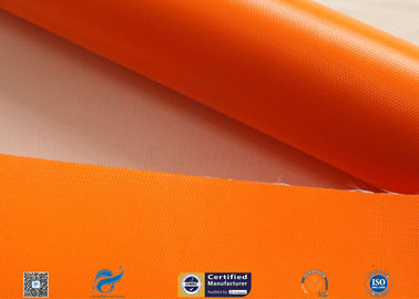 China Thermal Insulation Materials 0.45mm One Side Orange Silicone Coated Fiberglass Fabric factory