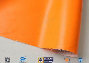 China Orange Silicone Rubber Coated Fiber Glass Fabric Thermal Insulation Materials factory