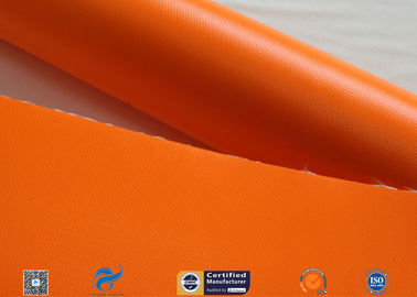 China Orange 510g Silicone Coated Fiber Glass Cloth For Fabric Expansion Joint factory
