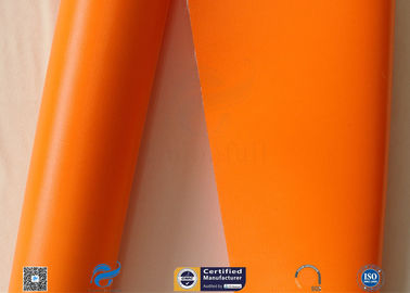 China 470gsm Thermal Insulation Materials Orange Silicone Coated Fiberglass Cloth factory