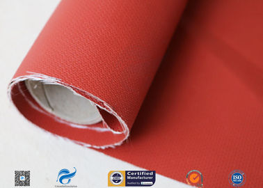 China 580gsm 260℃ Fiberglass Cloth Thermal Insulation Jacket Fabric Silicone Coated distributor