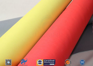 China Silicone Coated Fiberglass Fabric 0.65MM 960GSM Satin Grey Fire Welding Blanket factory
