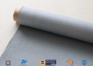 China Grey Silicone Coated Glass Fabric 1500gsm Two Side Coated Glass Fiber Cloth factory